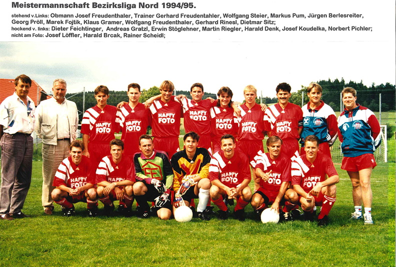 Foto SV Freistadt Meister 1995 Landesliga Ost