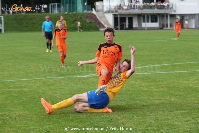 Foto Spielszene U16 St.Oswald/Fr. : SV Freistadt - Raphael Thürriedl