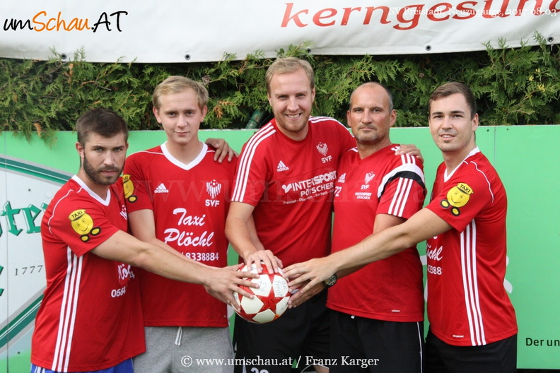 Foto Neuzugänge SV Freistadt Pavel Sultes, Wagner Maximilian, Harald Fragner, Georg Pröll