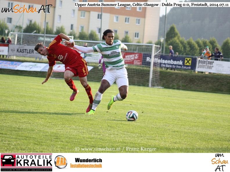 Foto Virgil van Dijk Celtic Glasgow gegen Dukla Prag