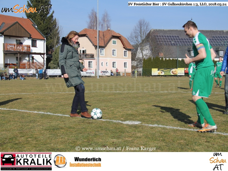 Foto SV Freistädter Bier : SV Gallneukirchen Bürgermeister Elisabeth Paruta Teufer (c) www.umschau.at