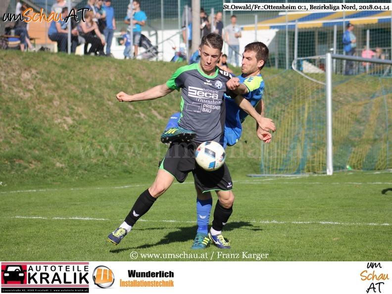 Foto Spielszene St.Oswald/Fr. : Ottensheim Bezirksliga Nord (c) www.umschau.at