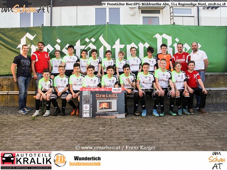 Foto U14 Mannschaft des SV Freistädter Bier (c) www.umschau.at