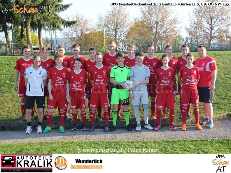Mannschaftsfoto U16 SPG Freistadt/Schenkenfelden (c) www-umschau.at