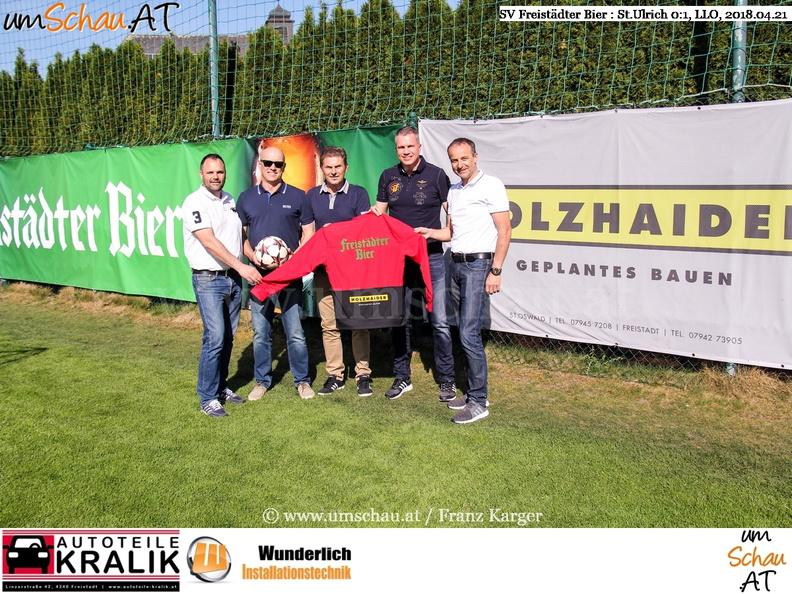 Foto SV Freistädter Bier Holzhaider Bau Klemens Rockenschaub Michael Raffaseder (c) www.umschau.at
