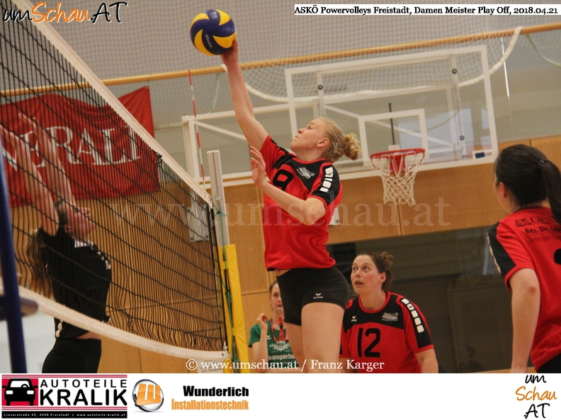 Foto ASKÖ Powervolleys Freistadt Damen Landesliga Johanna Stumbauer (c) www.umschau.at