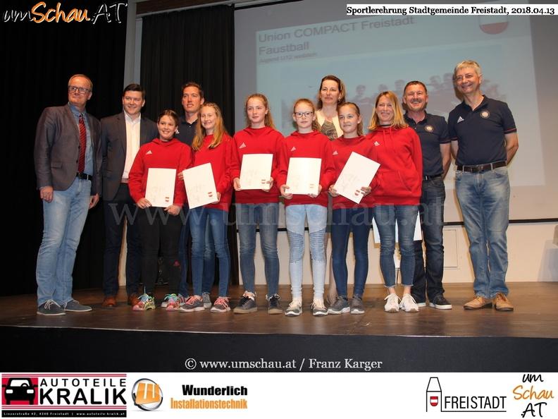 Foto Sportlerehrung Freistadt Union Compact Freistadt