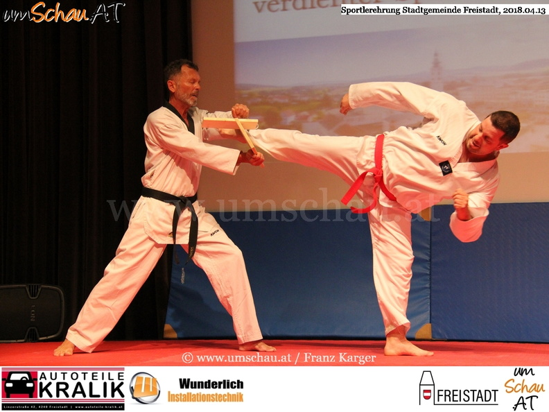 Foto Sportlerehrung Freistadt Taekwondo