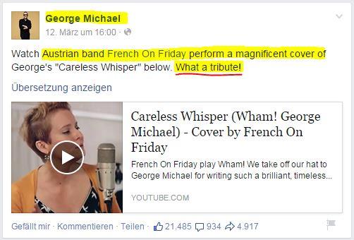 George Michael adelt Freistädter Pop Combo