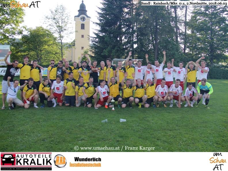 Foto Union Rainbach/Mkr Meisterjubel