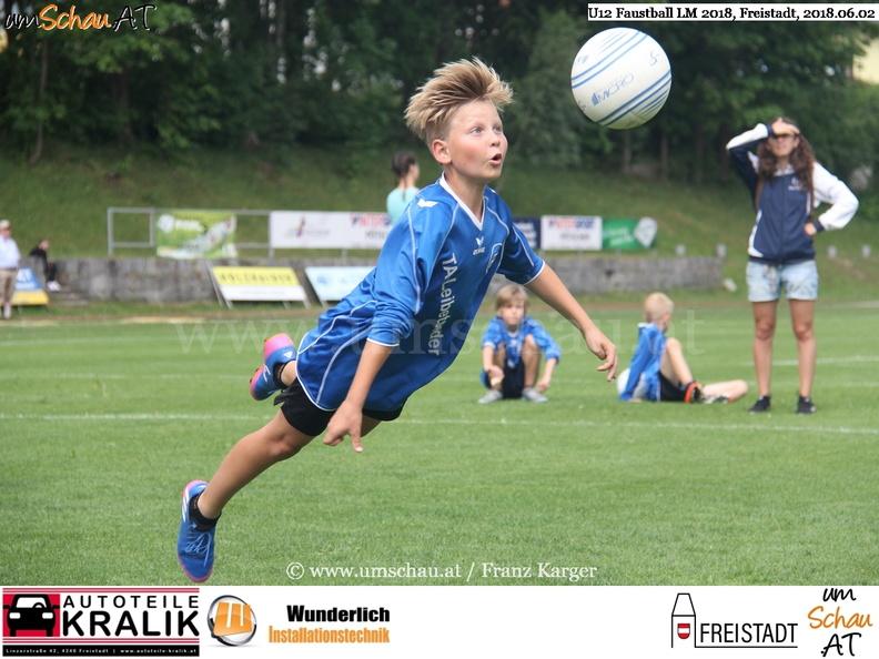 Foto Spielszene U12 Faustball Landesmeisterschaften