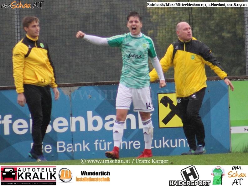 Foto Spielszene Union Rainbach/Mkr. : Union Mitterkirchen Tobias Auer