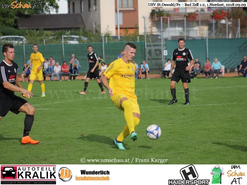 Foto Spielszene USV St.Oswald/Fr. : Bad Zell Filip Rezac (c) www.umschau.at / FRanz Karger