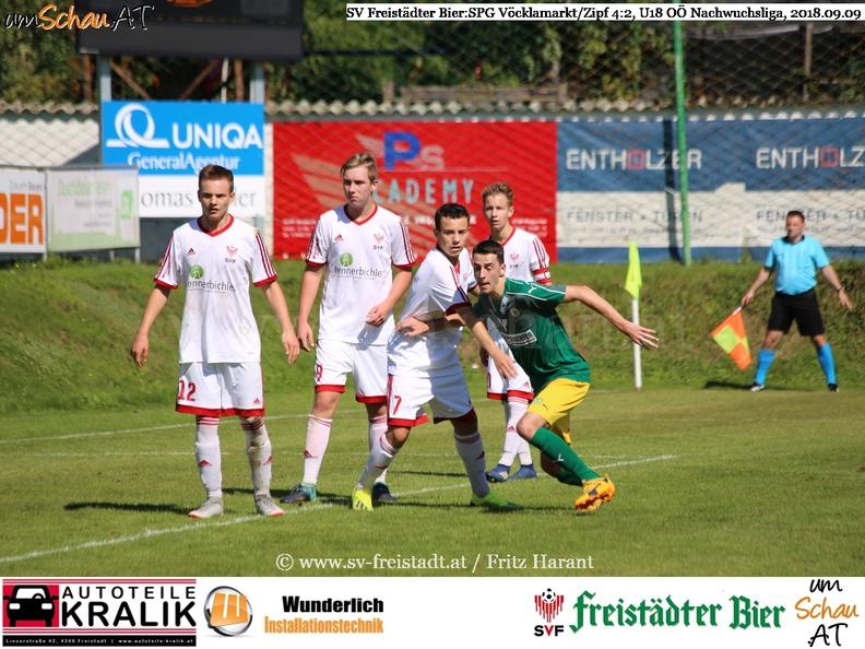 Foto Spielszene U18 SV Freistädter Bier : SPG Vöcklamarkt/Zipf