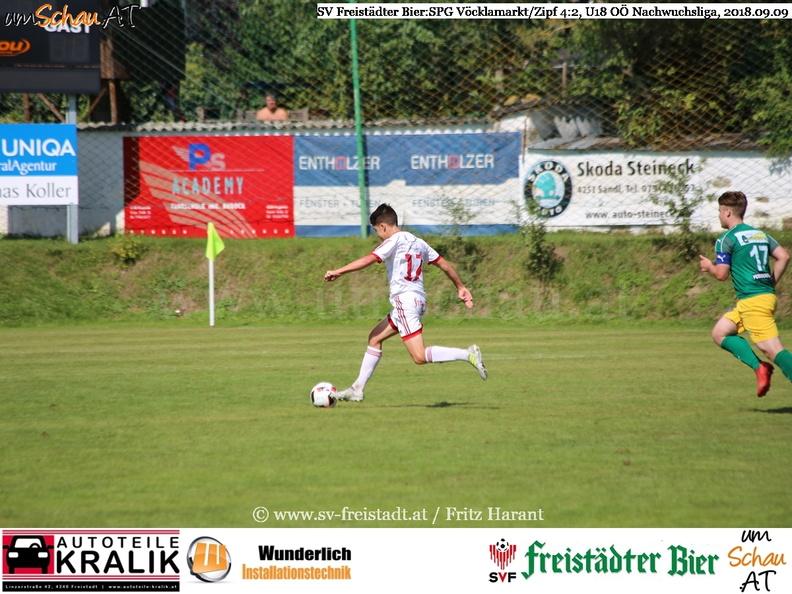 Foto Spielszene U18 SV Freistädter Bier : SPG Vöcklamarkt/Zipf Philipp Auer