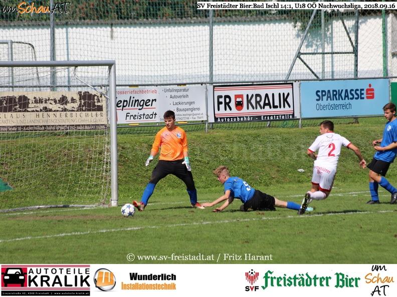 Foto Spielszene SV Freistädter Bier : Bad Ischl U18 OÖ Nachwuchsliga
