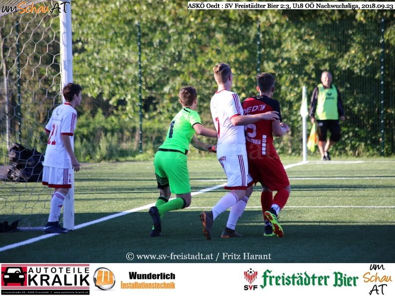 Foto Spielszene U18 ASKÖ Oedt : SV Freistädter Bier