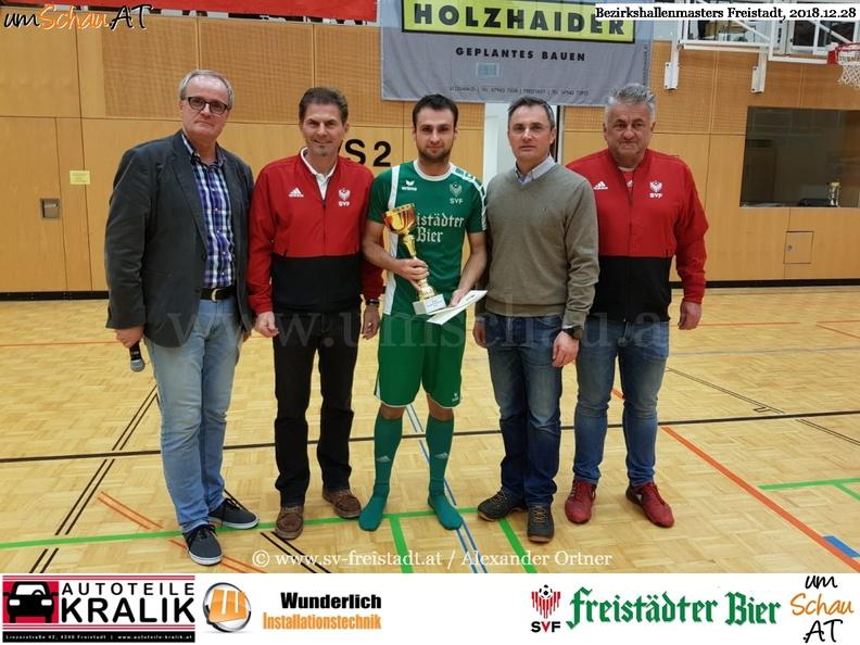 Foto Siegerehrung Bezirkshallenmasters Freistadt