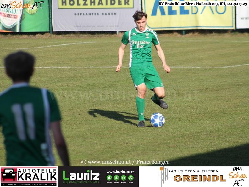 Foto Spielszene SV Freistädter Bier : Haibach Philipp Haiböck