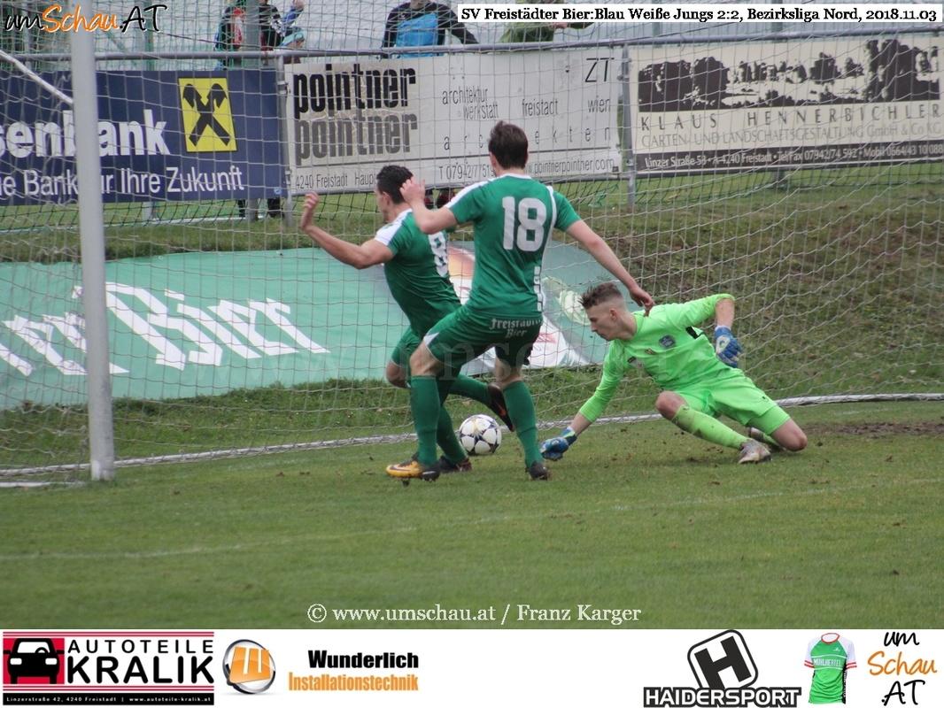 Foto Bezirksliga Nord SV Freistädter Bier : Blau Weiße Jungs Marin Glasnovic www.umschau.at