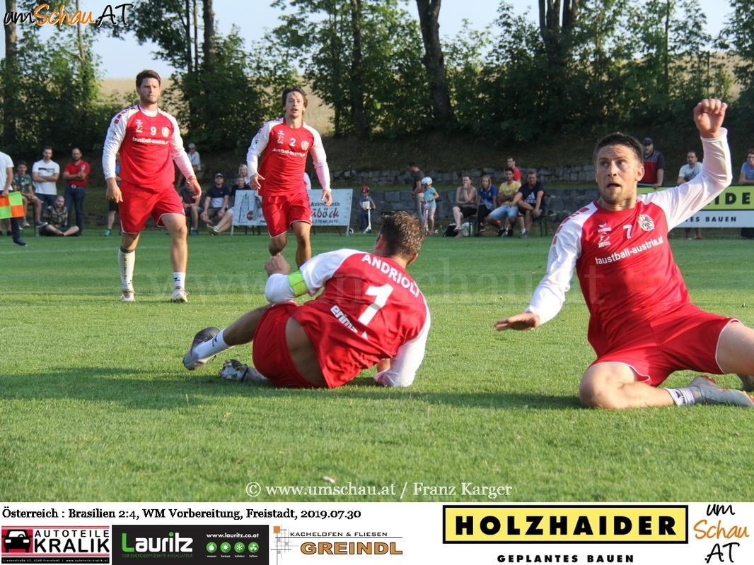 Foto Faustball Ländermatch Österreich : Brasilien