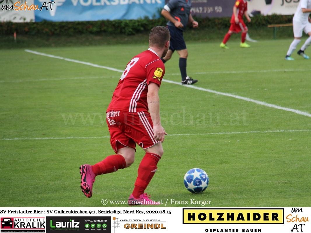 Foto SV Freistädter Bier vs. SV Gallneukirchen Bezirksliga Nord Daniel Stöglehner