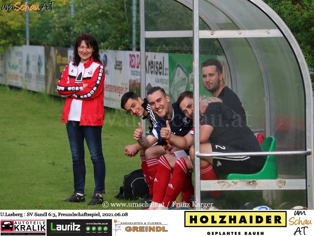 Foto Union Lasberg : SV Sandl Freundschaftsspiel Fussball